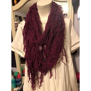 Urban Outfitters purple fringe scarf